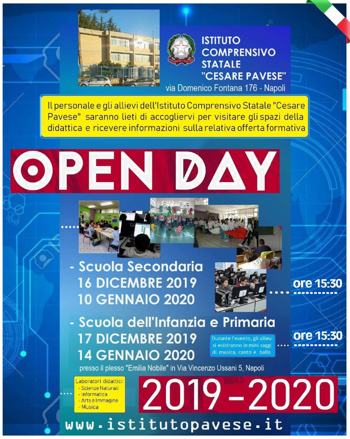 Open Days dell'IC Pavese 2019-2020